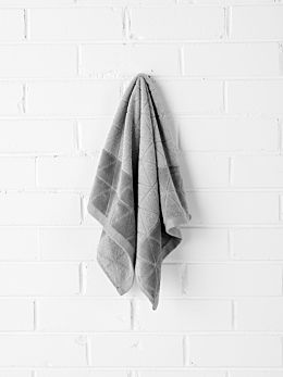 Chambray Border Hand Towel - Dove