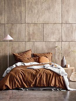 Vintage Stripe Quilt Cover - Cinnamon