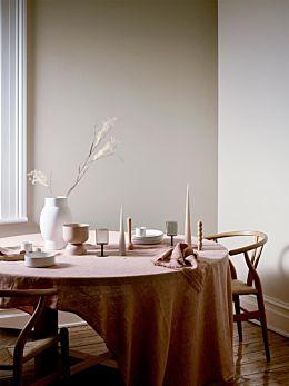 Vintage Linen Tablecloth - Clay