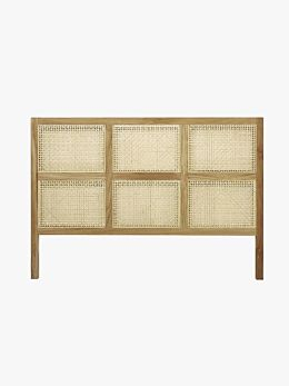 Willow Woven Bedhead in Natural - Queen