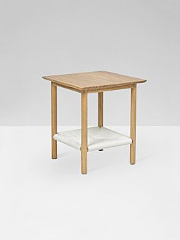 Anchor Woven Side Table in White