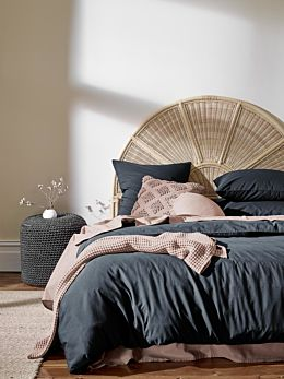 Halo Organic Cotton Quilt Cover - Steel