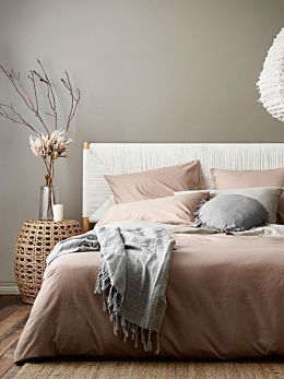 Halo Organic Cotton Quilt Cover - Rosewater