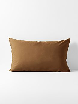 Halo Organic Cotton Standard Pillowcase - Tobacco
