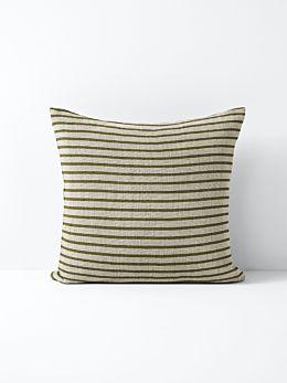 Heirloom Stripe Cushion - Khaki