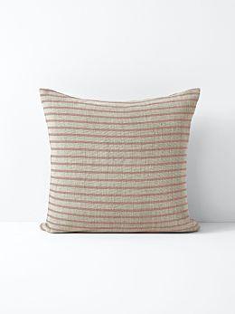 Heirloom Stripe Cushion - Rosewater