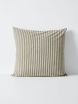 Heirloom Stripe European Pillowcase - Khaki