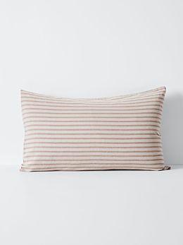 Heirloom Stripe Standard Pillowcase - Rosewater
