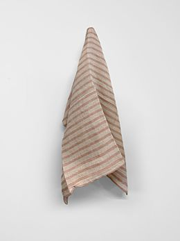 Heirloom Stripe Tea Towel - Rosewater