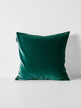 Luxury Velvet Cushion - Forest Night
