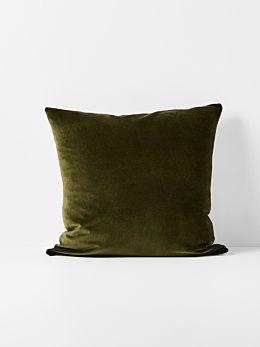 Luxury Velvet Cushion - Khaki