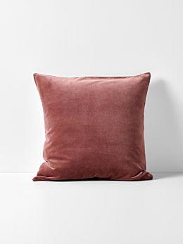 Luxury Velvet Cushion - Mahogany