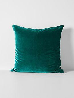 Luxury Velvet European Pillowcase - Forest Night