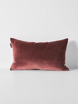 Luxury Velvet Rectangle Cushion - Mahogany
