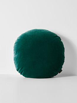 Luxury Velvet 55cm Round Cushion - Forest Night