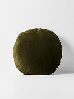 Luxury Velvet 55cm Round Cushion - Khaki