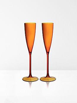 Champagne Flutes set of 2 by Maison Balzac - Amber