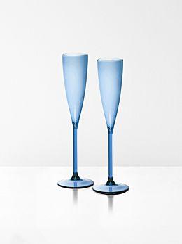 Champagne Glasses Set of 2 by Maison Balzac - Azure
