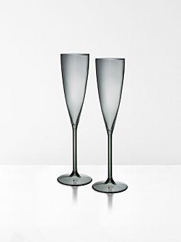 Champagne Flutes set of 2 by Maison Balzac - Smoke