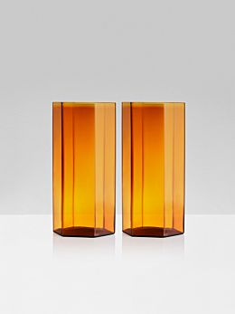 Coucou Tall Glasses Set of 2 by Maison Balzac - Amber