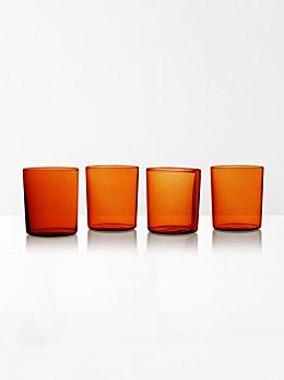 Glasses set of 4 by Maison Balzac - Amber
