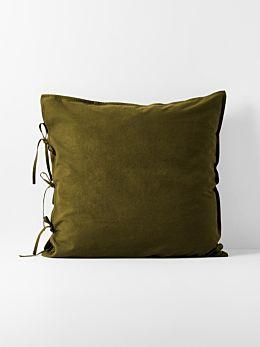 Maison Vintage European Pillowcase - Khaki