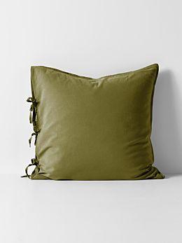Maison Vintage European Pillowcase - Olive