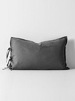 Maison Vintage Standard Pillowcase - Charcoal