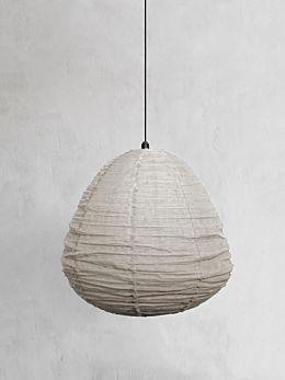 Fringed Linen Light Shade Large - Natural