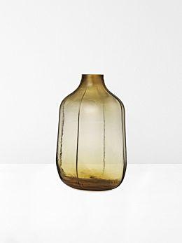 Step Tall Vase in Amber by Normann Copenhagen