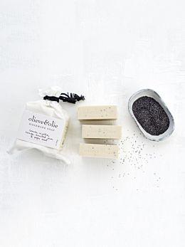 Lemon Myrtle & Poppy Seed 3 Pack Soap by Olieve