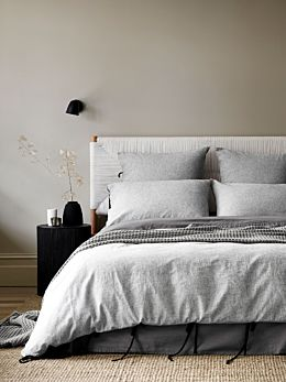 Oxford Quilt Cover - Black