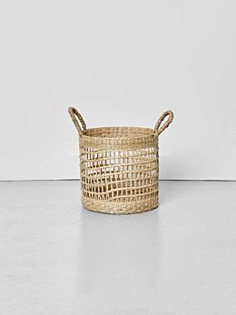 Lally Woven Basket with Loop Handle Small