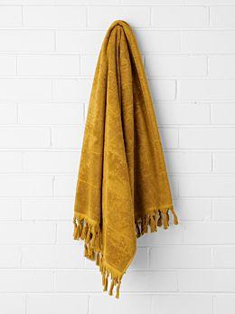 Paros Bath Sheet - Mustard