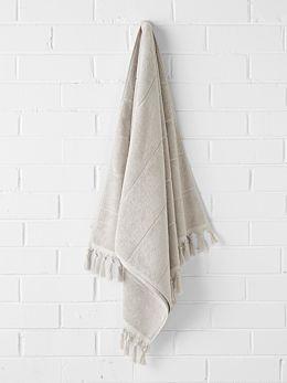 Paros Bath Sheet - Natural