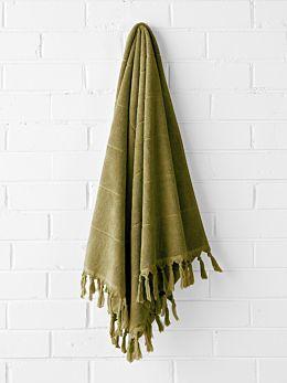 Paros Bath Sheet - Olive