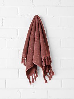 Paros Hand Towel - Mahogany