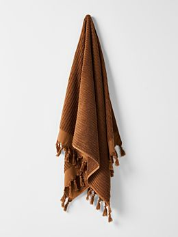 Paros Rib Bath Towel - Bronze