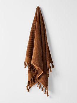 Paros Rib Bath Sheet - Bronze