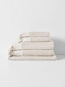 Paros Rib Bath Towel Set - Sand