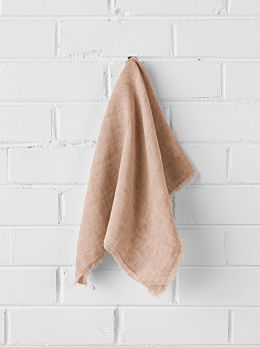Vintage Linen Napkins set of 4 - Clay