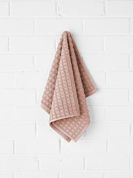 Waffle Hand Towel - Pink Clay