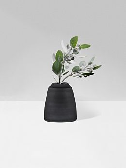 Black Tapered Vase Frost by Zakkia