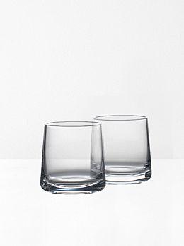 Rocks Wideball Crystal Glasses Set of 2 by Zone Denmark