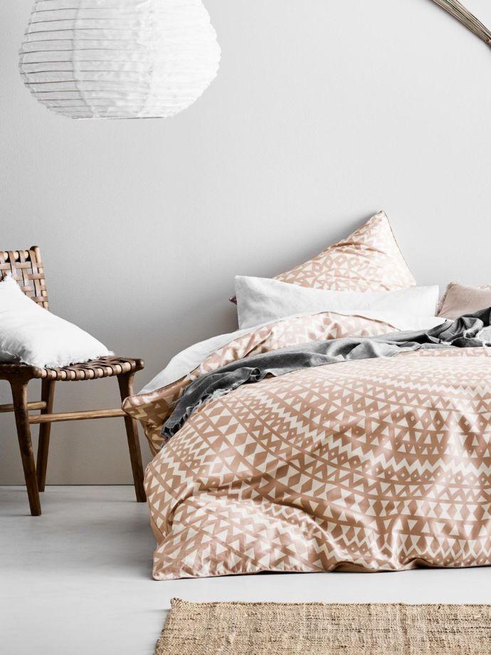 54ed10fb0b01 Pink Clay Inca Quilt Cover Set | Aura Home