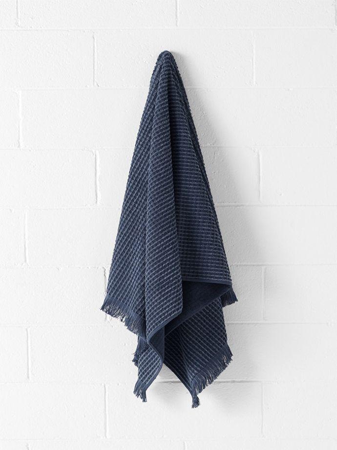 bath towel. Waffle Bath Towel - Denim