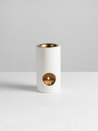 Synergy Limestone Oil Burner by Addition Studio