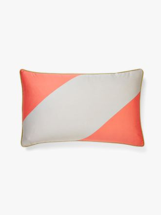 Big Stripe Standard Pillowcase - Coral