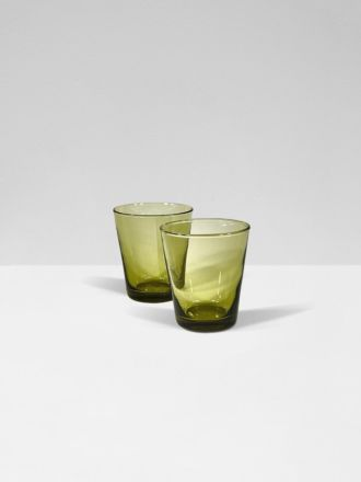 Amber Bora Bora Set of 2 Glasses by Bison