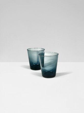 Smoke Bora Bora Set of 2 Glasses by Bison